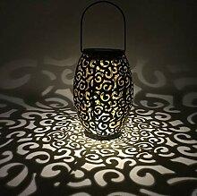 LYXMY LED-Laterne, Solar-Windlicht, Vintage-Stil,