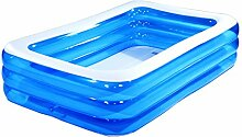 lyy Schwimmbecken-Kind-Kind-aufblasbare Pool-Familie großes Ozean-Ball-Pool gepolsterte Isolierung blau (Größe: 120 * 90 * 55cm) ( größe : 200*155*50cm )