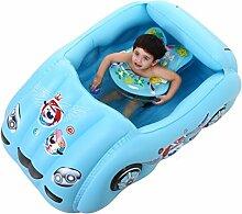 lyy Swimmingpool-aufblasbarer Spaß-Auto-Baby-Ozean-Ball-Pool-aufblasbarer Spielsaal-aufblasbare Innenspielwaren einschließlich aufblasbare Pumpe ( Farbe : A )