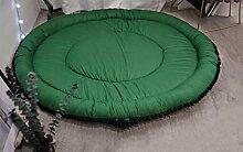 LYYDITAN zhdc®, 140cm, Kinder, solide Farbe, Baumwolle mit Teppich Wohnzimmer Schlafzimmer Teppich Zelt Matte Waschbar, Weich und bequem #1