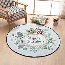 LYYDITAN zhdc® Cartoon-Teppich Wohnzimmer Schlafzimmer Nachttisch-Stuhl mit Wohnzimmer Couchtisch Hanging Basket mit ca. Pad, Durchmesser 60cm, Durchmesser 150cm, weich und bequem, 5, Diameter 80cm
