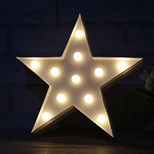 LYYWE LED Nachtlicht Stern Tischlampen Romantische