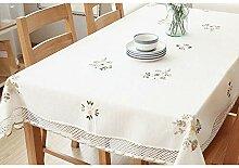 LZH Tuch Baumwolle Tischdecke Floral Kleine