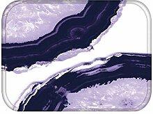 LZHLMCL Badezimmerteppichmatte Fußmatten Lila