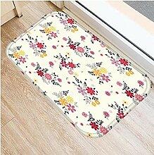 LZHLMCL Wildleder Türmatte Teppich Fußmatten