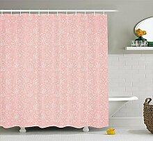 lzhsunni88Light Pink Vorhang für die Dusche,