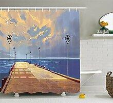 lzhsunni88Vintage Decor Vorhang für die Dusche,