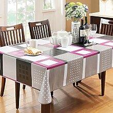 LZI PVC Tischdecke,Wasserdichte Tischdecke Für