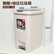 LZJBJ Mülleimer Küchenabfalleimer für zu Hause