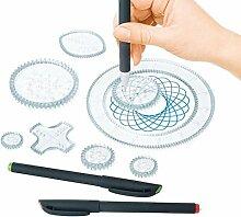 lzn 26pcs Spirograph Set Spiral Designer