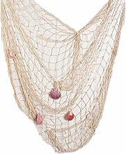lzn Fischernetz mit Muscheln 1,5 x 2M Partei Wand