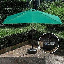 LZPQ Halb-Sonnenschirm, mit Kurbel,UV-Schutz