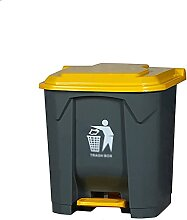 LZQBD Mülleimer, Fußpedal-Kunststoff-Mülleimer,