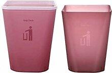 LZQLJ Quadratischer Mülleimer Haushalt Badezimmer