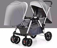 LZTET Kinder Doppel-Kinderwagen Doppel-Kinderwagen