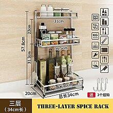 Lzx Küchenregal für Arbeitsplatte, Gewürzregal,