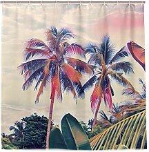 LZXO Duschvorhang 180 x 180 cm Vintage Tropische