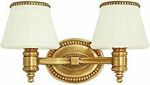LZY Wandlampe- All-Kupfer Doppel-Kopf-Wandleuchte,