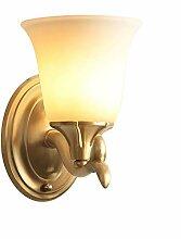 LZY Wandlampe- American Copper Glass Wandleuchte,