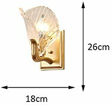LZY Wandlampe- E14 Kupfer Wandleuchte, Kunst