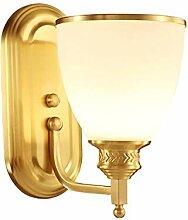 LZY Wandlampe- Glas Lampenschirm Wohnzimmer TV