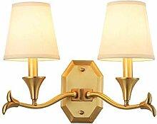 LZY Wandlampe- Wandlampe, Einfache Kupfer