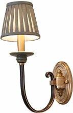 LZY Wandlampe- Wandlampe Schlafzimmer Stoff Stoff
