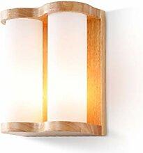 LZY Wandlampe- Wandleuchte Glas Lampenschirm, Log