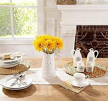 LZYCL Home Künstliche Chrysanthemeblumen, 10 Fake