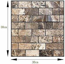LZYMLG Selbstklebende Marmor-Ziegelstein-Tapete