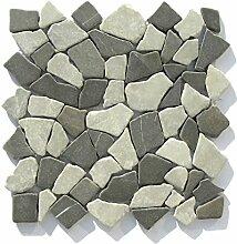 M-014 Marmor Bruchstein Mosaikfliesen Badezimmer