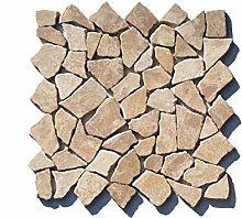 M-021 Marmor Bruchstein Mosaikfliese Mocca
