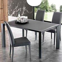 M-029 Glastisch, Stahl, ausziehbar, Design Alonso