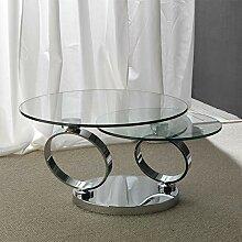 M-029 Rosana Couchtisch, rund, Glas, Stahl