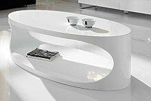 M-030 OXY Couchtisch, oval, Weiß lackier
