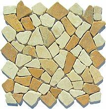 M-1-013 - 1 m² = 11 Fliesen - Naturstein Marmor Bruchstein Mosaikfliesen Fliesen Lager Verkauf Stein-Mosaik Herne NRW
