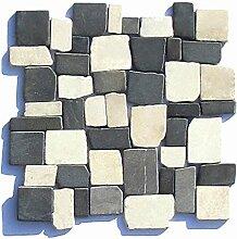 M-1-016 - 1 m² = 11 Fliesen - Marmor Bruchsteinmosaik Mosaikfliesen Naturstein Fliesen Lager Verkauf Stein-Mosaik Herne NRW