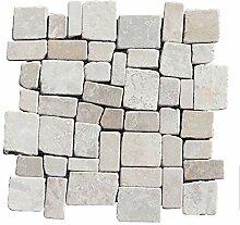 M-1-020 - 1 m² = 11 Fliesen - Marmormosaik