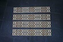 m 4X Holzornament Bordüre BlütenMush 50x8x0,3cm