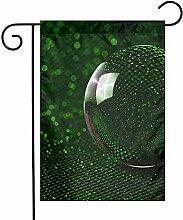 m.a.l.l Ball-Spiegel-grüne Garten-Flaggen 70 x