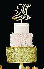 M Cake Topper Datum Hochzeit Kuchen Topper
