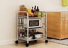 M-Dish racks- Regale Küchenregale Mikrowelle Bodenständer Speicherfach Multi-Rack Schüssel Regal Backofenrost Klassifiziert-Abstellflächen ( größe : Long 40cm )