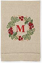 M Handtuch für Initialen, französisches Knoten.