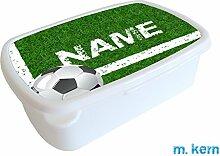 m. kern Brotdose Fußball Platz mit Name, Lunchbox
