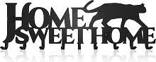 M-KeyCases Schlüsselbrett Home Sweet Home Katze