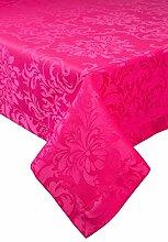m.Lyra Hochwertige und elegante Tischdecke mit Lotus-Effekt beidseitig mit Teflon beschichtet - Pink - (140 x 300 cm) (O539)