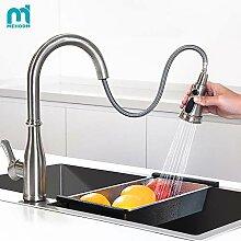 M MEHOOM Wasserhahn Küche, 3 Wege Küchenarmatur,