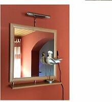M-Möbel Spiegel Wandspiegel Ablage Beleuchtung