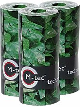 M-tec Print ® Bedruckte PVC Zaunstreifen Efeu