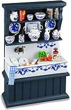 M.W. Reutter - Küchenwaschbecken, blau, dekorier